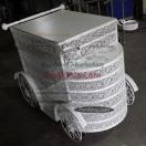 Papatya Pasta Arabası Beyaz